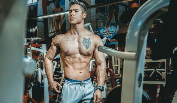 Lekko zarysowane mięśnie